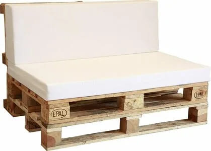sofa de palets reciclado